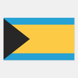 Flag of the Bahamas Rectangular Sticker
