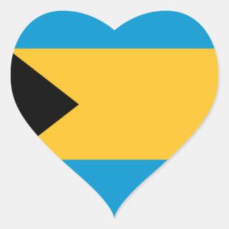 Flag of the Bahamas Heart Sticker