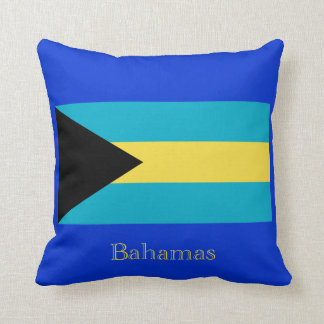 Flag of the Bahamas Throw Pillow
