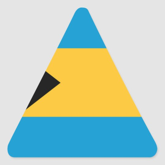 Flag of the Bahamas Triangle Sticker