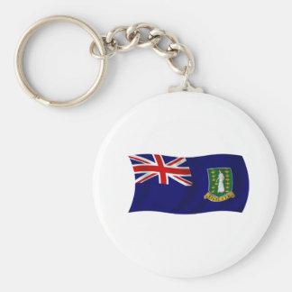 Flag of the British Virgin Islands Basic Round Button Keychain