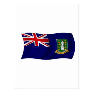 Flag of the British Virgin Islands Postcard