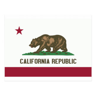 Flag of the Californian state Postcard