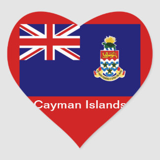 Flag of the Cayman Islands Heart Sticker