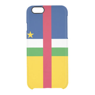 Flag of the Central African Rep. Clear iPhone Case