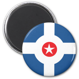 Flag of the City of Indianapolis 2 Inch Round Magnet