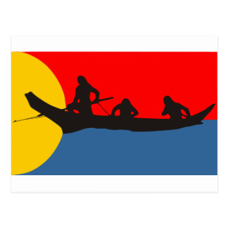 Flag of the Clatsop Tribe Oregon Post Cards