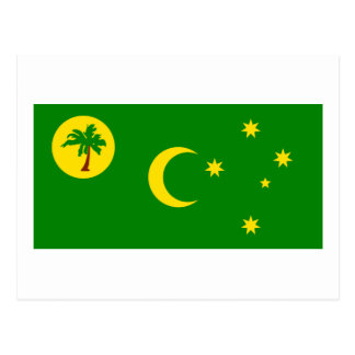 Flag of  the Cocos Islands Postcard