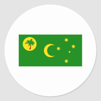 Flag of  the Cocos Islands Classic Round Sticker