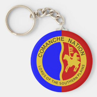 Flag of the Comanche Nation Basic Round Button Keychain