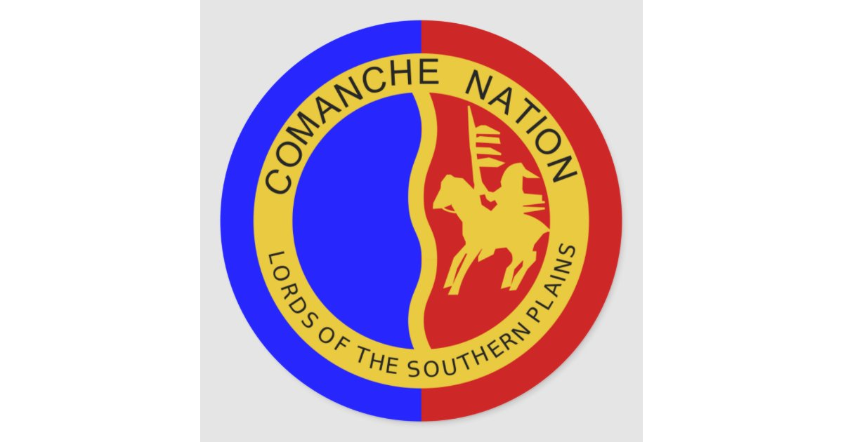 Flag of the Comanche Nation Classic Round Sticker | Zazzle.com