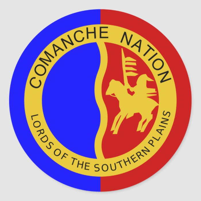Flag of the Comanche Nation Classic Round Sticker | Zazzle