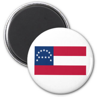 Flag of the Confederate Army of Northern Virginia 2 Inch Round Magnet