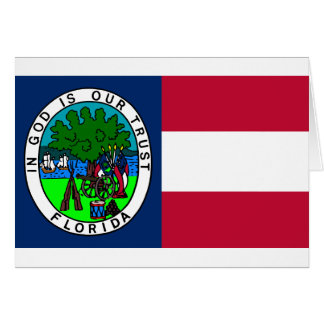 Flag of the Confederate State of Florida 1861 Card