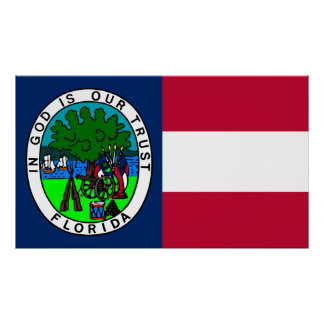 Flag of the Confederate State of Florida 1861 Poster