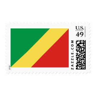 Flag of the Congo Republic Postage Stamps