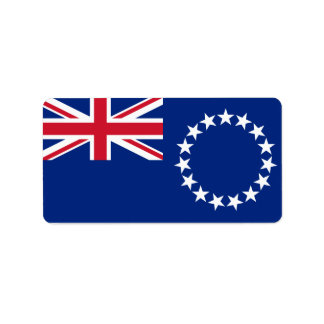 Flag of the Cook Islands Labels