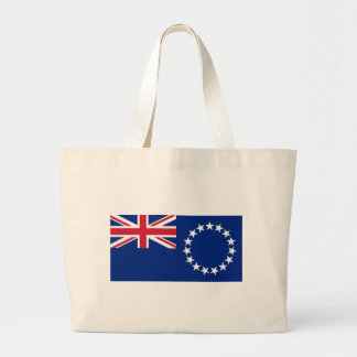 Flag_of_the_Cook_Islands Large Tote Bag