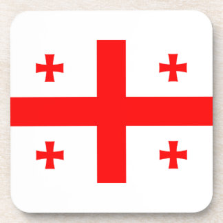 Flag Of The Country Of Georgia Beverage Coaster