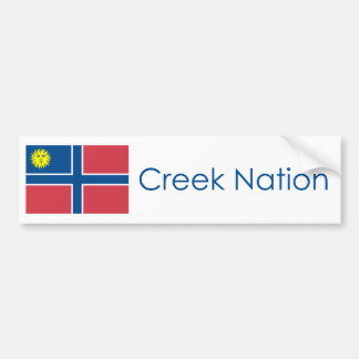 Flag of the Creek Nation Car Bumper Sticker