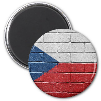 Flag of the Czech Republic 2 Inch Round Magnet