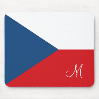 Flag of the Czech Republic Monogrammed Mouse Pad