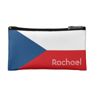 Flag of the Czech Republic Personalized Makeup Bag