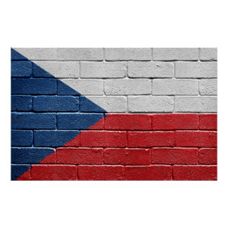 Flag of the Czech Republic Poster