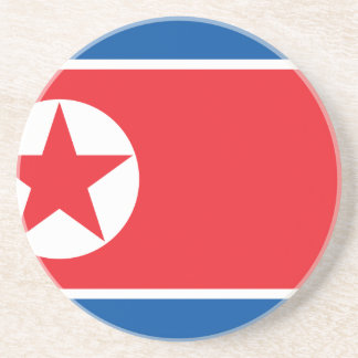 Flag of the Democratic People's Republic of Korea Drink Coaster