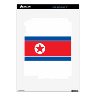 Flag of the Democratic People's Republic of Korea Skins For The iPad 2