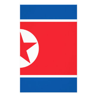 Flag of the Democratic People's Republic of Korea Stationery