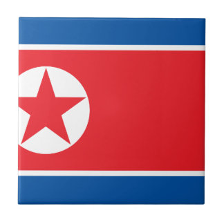 Flag of the Democratic People's Republic of Korea Tile