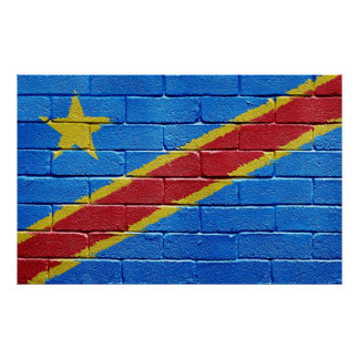 Flag of the Democratic Republic of the Congo Poster