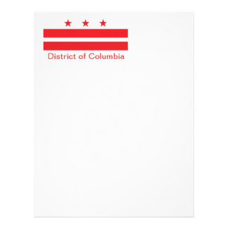 Flag of the District of Columbia Letterhead