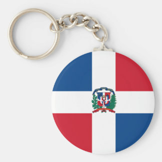 Flag of the Dominican Republic Basic Round Button Keychain