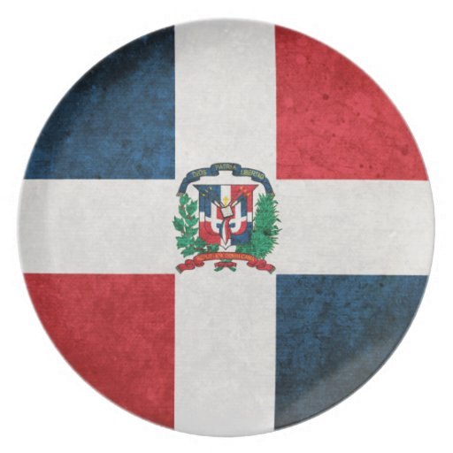 Flag of the Dominican Republic Dinner Plate