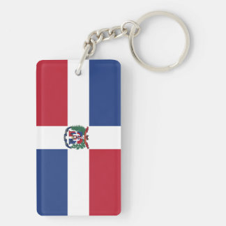 Flag of the Dominican Republic Keychain