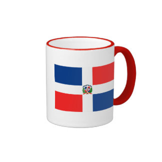 Flag of the Dominican Republic Ringer Coffee Mug