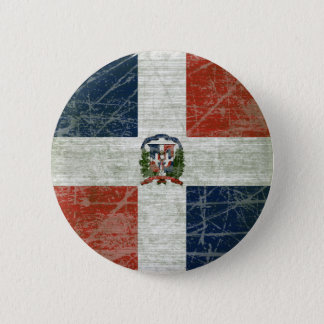 FLAG OF THE DOMINICAN REPUBLIC PINBACK BUTTON