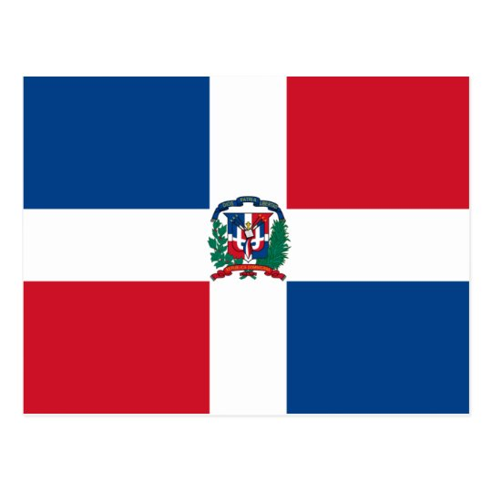 Flag of the Dominican Republic Postcard
