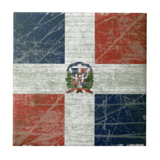 FLAG OF THE DOMINICAN REPUBLIC TILE