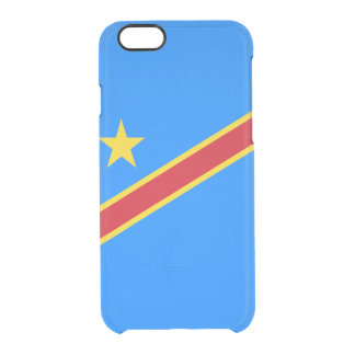 Flag of the DR Congo Clear iPhone Case