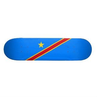 Flag of the DR Congo Skateboard Deck