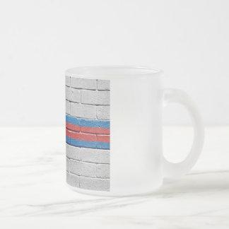 Flag of the Faroe Islands Frosted Glass Coffee Mug