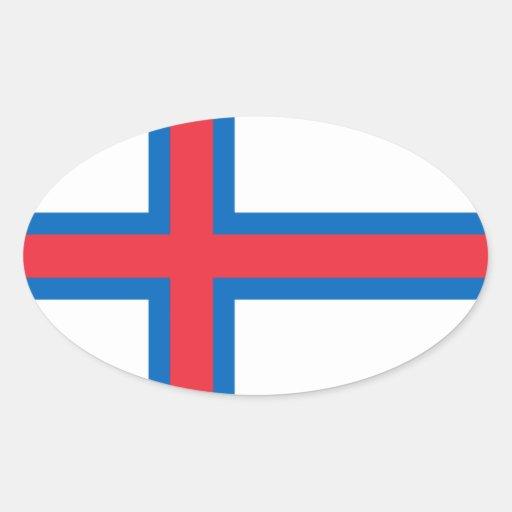 Flag of the Faroe Islands Oval Sticker