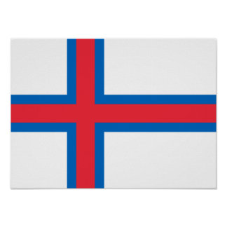 Flag of the Faroe Islands Poster