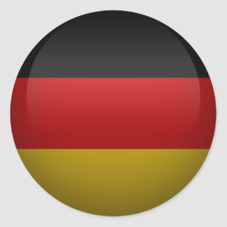 flag of the Federal Republic of Germany Classic Round Sticker