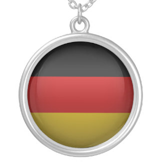 Flag of the Federal Republic of Germany Round Pendant Necklace