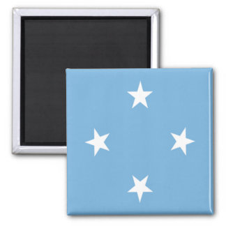 Flag of the Federated States of Micronesia 2 Inch Square Magnet