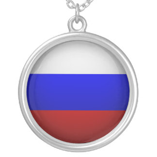 Flag of the Federation of Russia Silver Plated Necklace